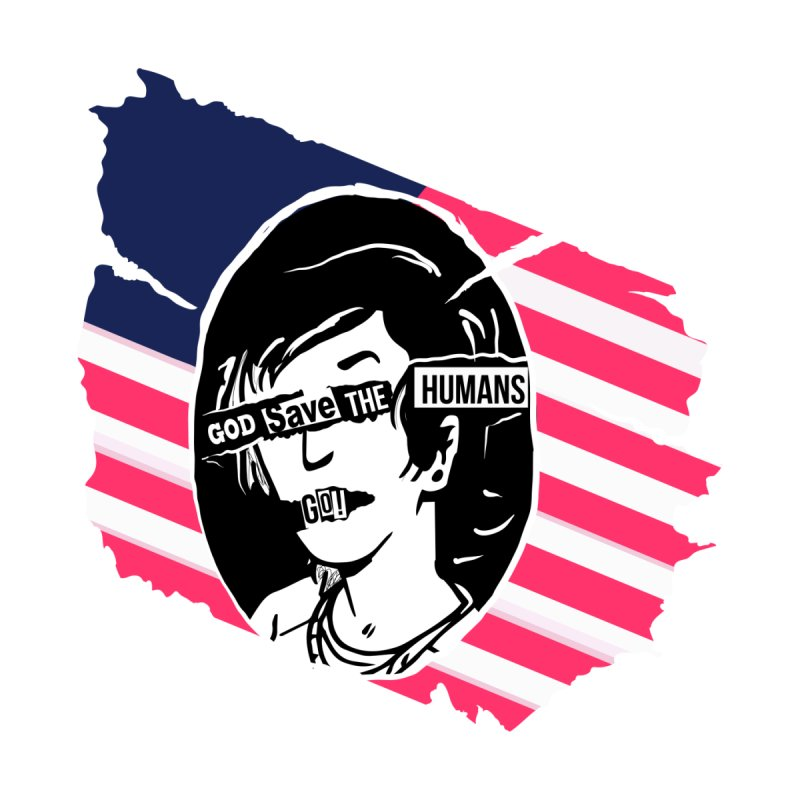 Terminal Punks - God Save the Humans Women's T-Shirt by Mad Cave Studios's Artist Shop