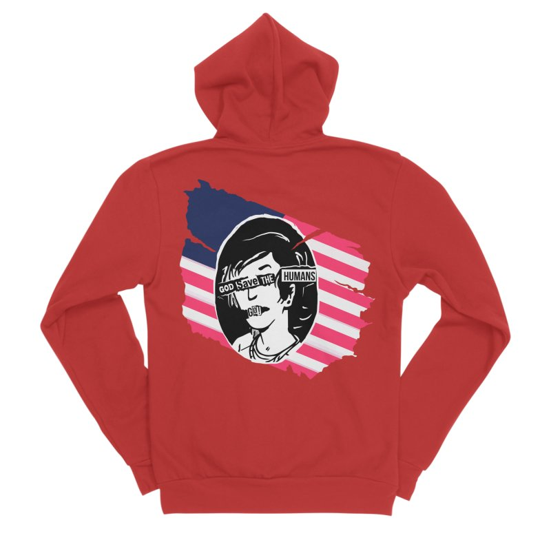 Terminal Punks - God Save the Humans Men's Zip-Up Hoody by Mad Cave Studios's Artist Shop
