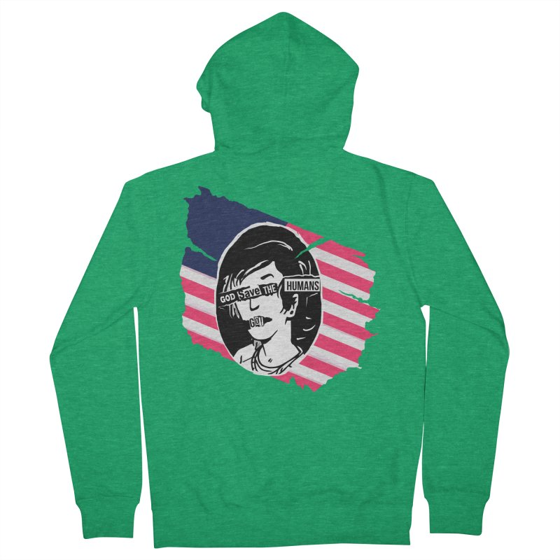 Terminal Punks - God Save the Humans Women's Zip-Up Hoody by Mad Cave Studios's Artist Shop