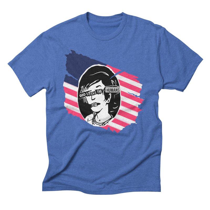 Terminal Punks - God Save the Humans Men's T-Shirt by Mad Cave Studios's Artist Shop