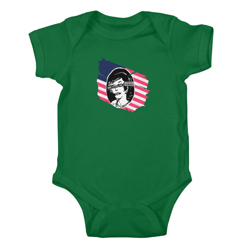 Terminal Punks - God Save the Humans Kids Baby Bodysuit by Mad Cave Studios's Artist Shop