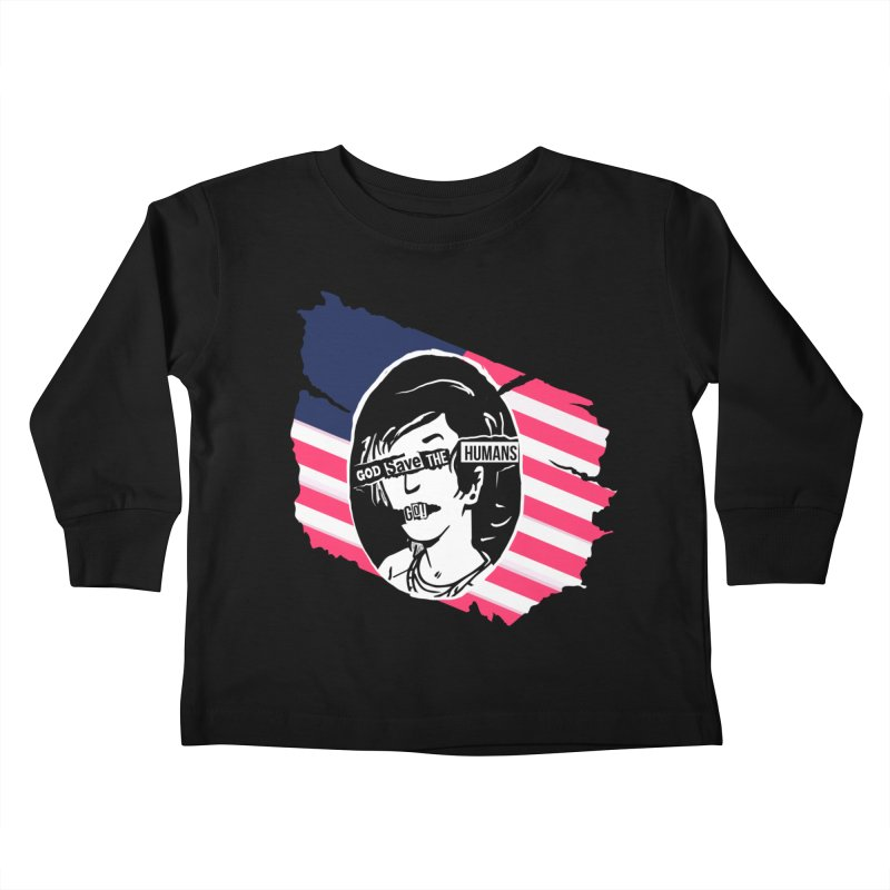 Terminal Punks - God Save the Humans Kids Toddler Longsleeve T-Shirt by Mad Cave Studios's Artist Shop
