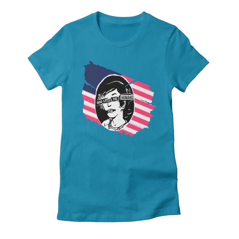 Terminal Punks - God Save the Humans Women's T-Shirt by Mad Cave Studios's Artist Shop