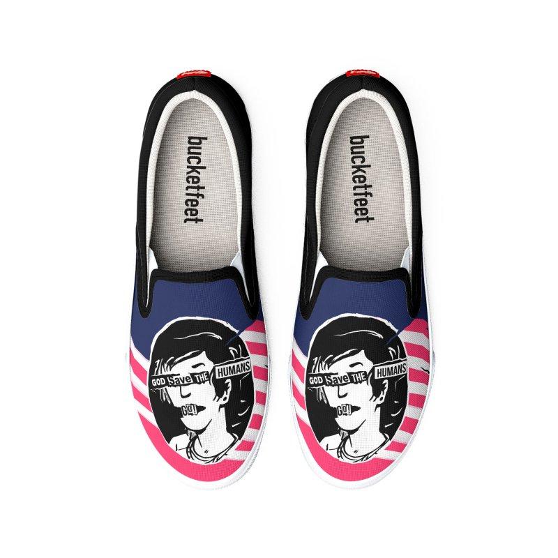 Terminal Punks - God Save the Humans Men's Shoes by Mad Cave Studios's Artist Shop
