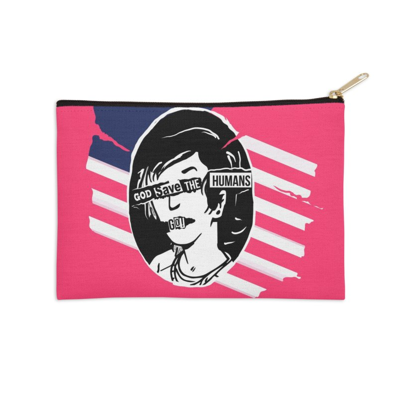 Terminal Punks - God Save the Humans Accessories Zip Pouch by Mad Cave Studios's Artist Shop