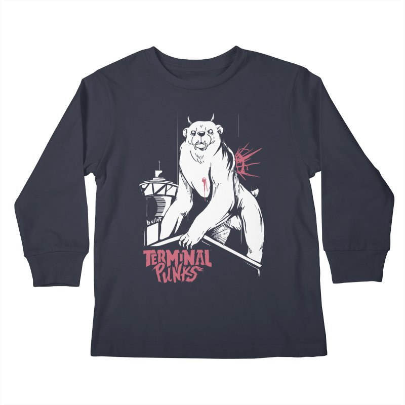 Terminal Punks - Menthal Smook​ Kids Longsleeve T-Shirt by Mad Cave Studios's Artist Shop