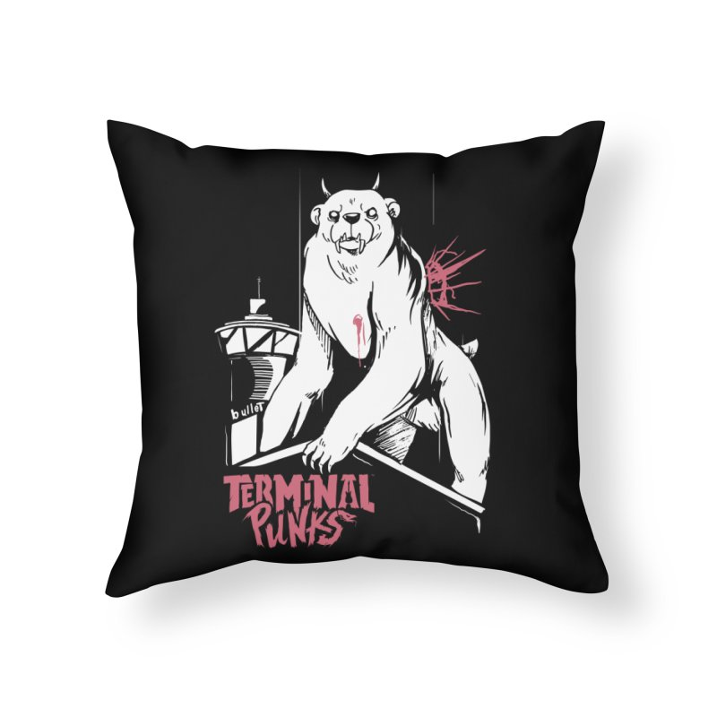 Terminal Punks - Menthal Smook Home Throw Pillow by Mad Cave Studios's Artist Shop