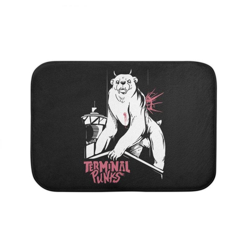 Terminal Punks - Menthal Smook Home Bath Mat by Mad Cave Studios's Artist Shop