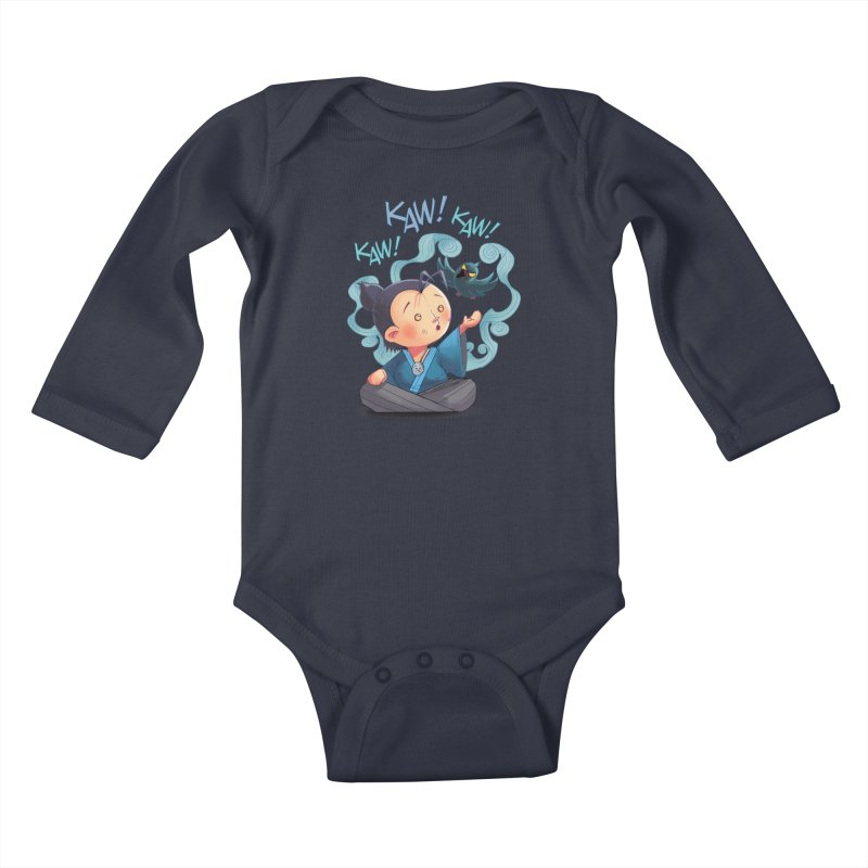 Honor and Curse - Genshi and Tengu Kids Baby Longsleeve Bodysuit by Mad Cave Studios's Artist Shop