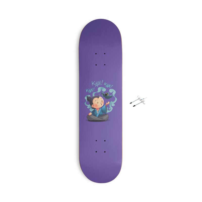 Honor and Curse - Genshi and Tengu Accessories Skateboard by Mad Cave Studios's Artist Shop