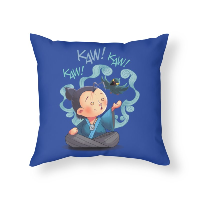 Honor and Curse - Genshi and Tengu Home Throw Pillow by Mad Cave Studios's Artist Shop