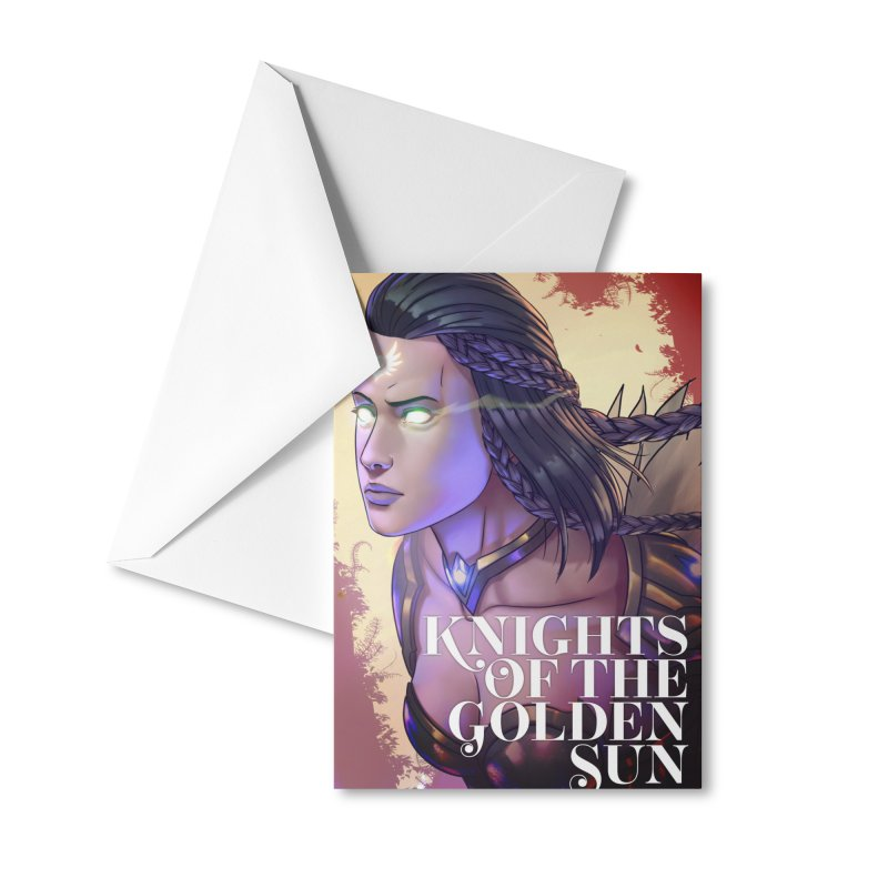 Knights of The Golden Sun - Uriel Accessories Greeting Card by Mad Cave Studios's Artist Shop
