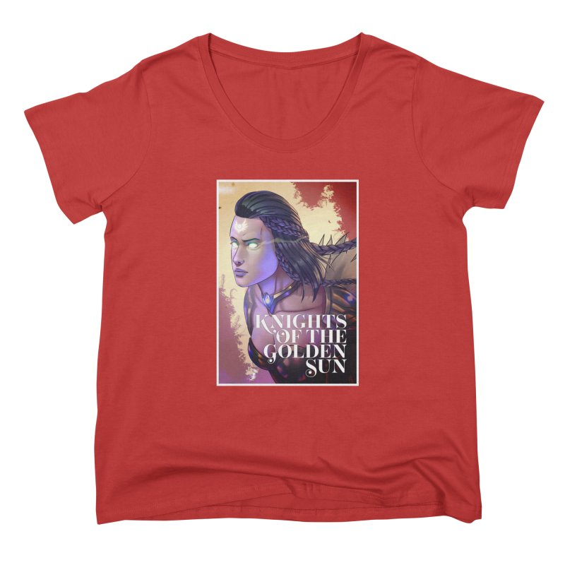 Knights of The Golden Sun - Uriel Women's Scoop Neck by Mad Cave Studios's Artist Shop