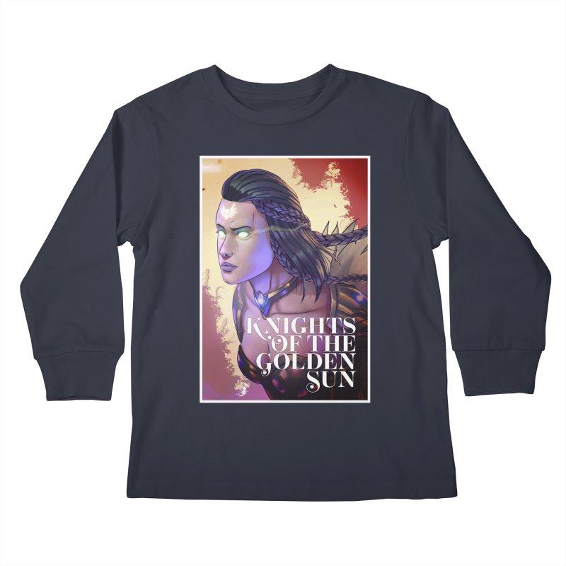 Knights of The Golden Sun - Uriel Kids Longsleeve T-Shirt by Mad Cave Studios's Artist Shop