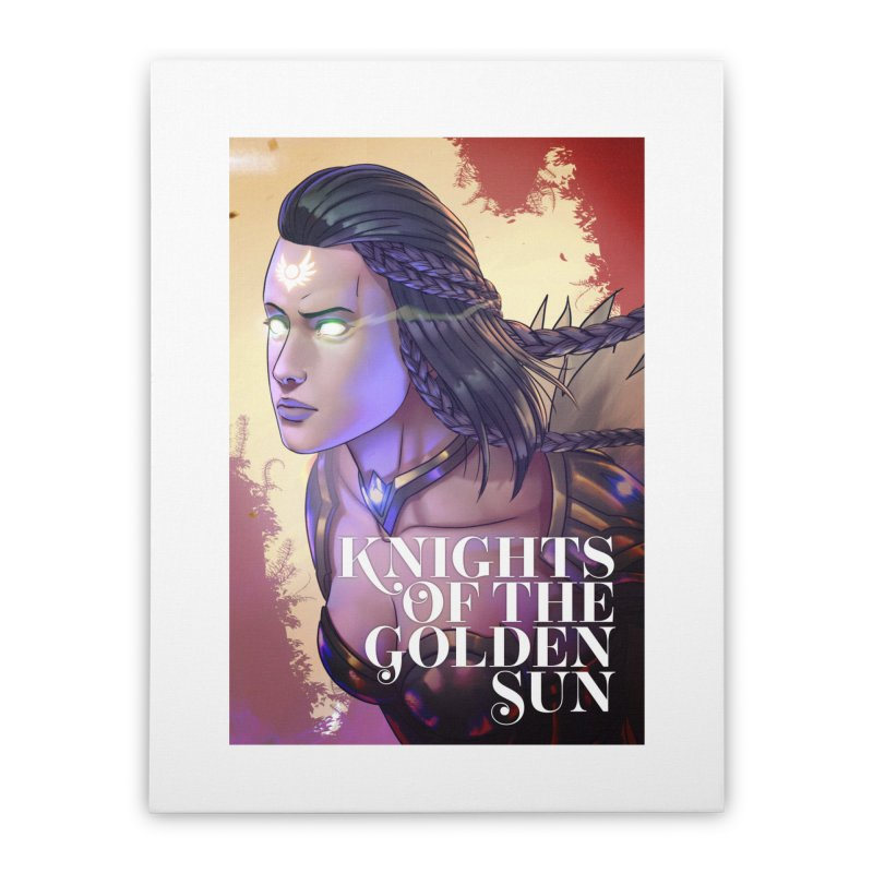 Knights of The Golden Sun - Uriel Home Stretched Canvas by Mad Cave Studios's Artist Shop