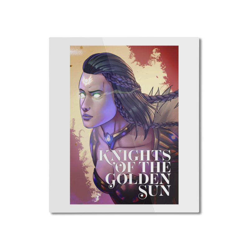 Knights of The Golden Sun - Uriel Home Mounted Aluminum Print by Mad Cave Studios's Artist Shop