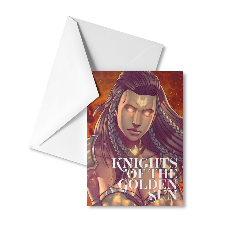 Knights of The Golden Sun - Gabrielle Accessories Greeting Card by Mad Cave Studios's Artist Shop