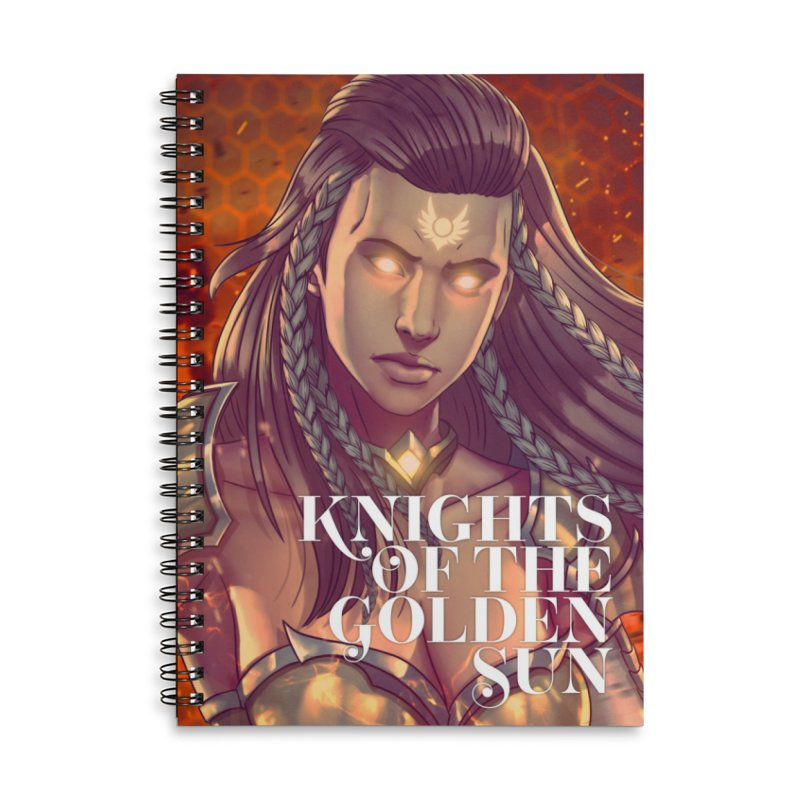 Knights of The Golden Sun - Gabrielle Accessories Notebook by Mad Cave Studios's Artist Shop