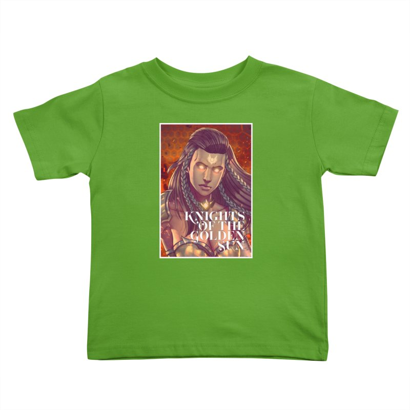 Knights of The Golden Sun - Gabrielle Kids Toddler T-Shirt by Mad Cave Studios's Artist Shop
