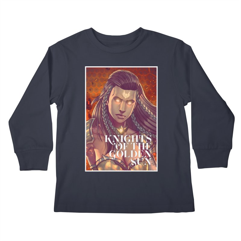 Knights of The Golden Sun - Gabrielle Kids Longsleeve T-Shirt by Mad Cave Studios's Artist Shop