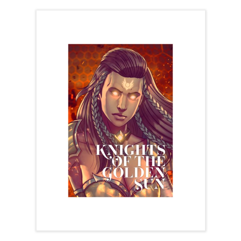 Knights of The Golden Sun - Gabrielle Home Fine Art Print by Mad Cave Studios's Artist Shop
