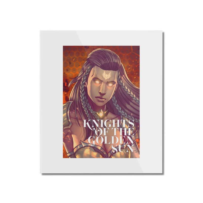 Knights of The Golden Sun - Gabrielle Home Mounted Acrylic Print by Mad Cave Studios's Artist Shop
