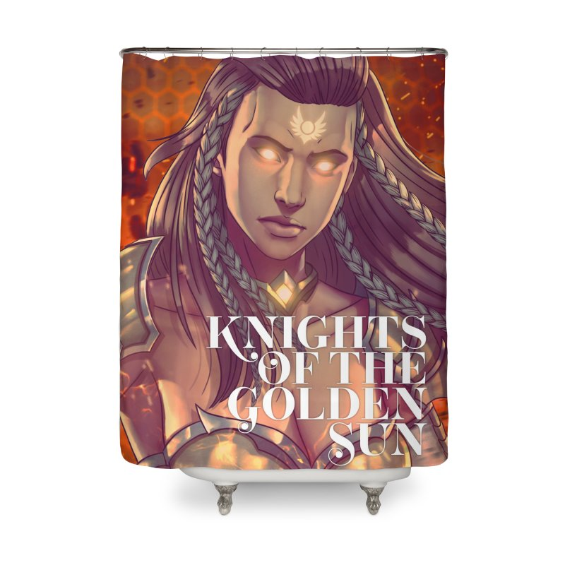 Knights of The Golden Sun - Gabrielle Home Shower Curtain by Mad Cave Studios's Artist Shop