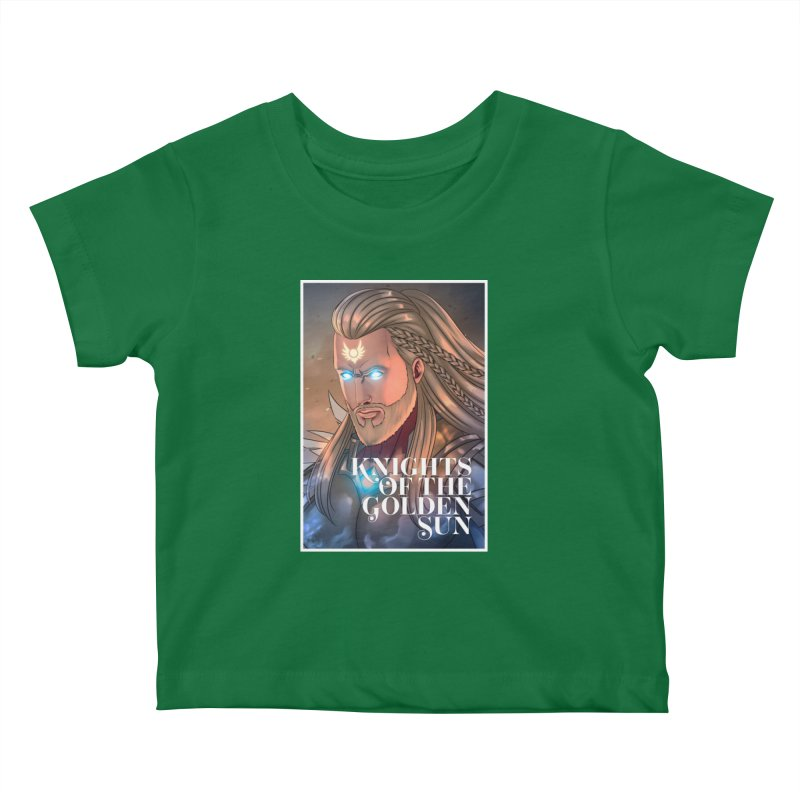 Knights of The Golden Sun - Michael Kids Baby T-Shirt by Mad Cave Studios's Artist Shop