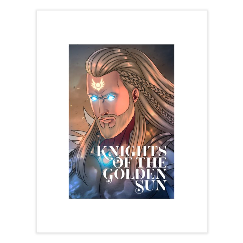 Knights of The Golden Sun - Michael Home Fine Art Print by Mad Cave Studios's Artist Shop