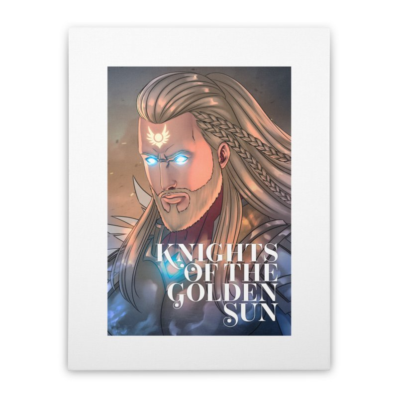 Knights of The Golden Sun - Michael Home Stretched Canvas by Mad Cave Studios's Artist Shop