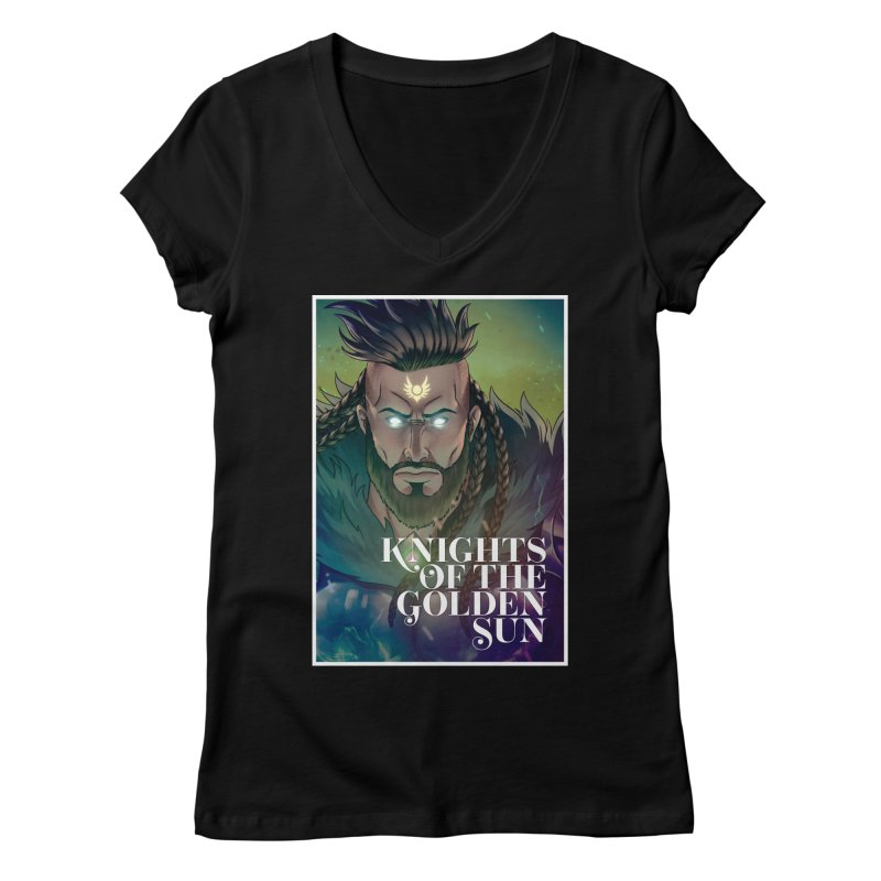 Knights of The Golden Sun - Raphael Women's V-Neck by Mad Cave Studios's Artist Shop