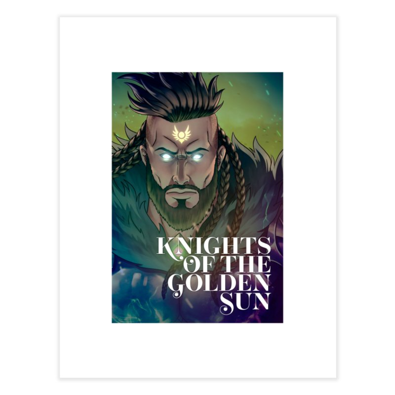 Knights of The Golden Sun - Raphael Home Fine Art Print by Mad Cave Studios's Artist Shop