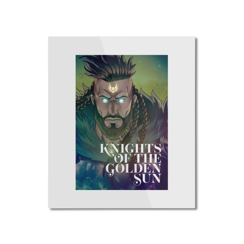 Knights of The Golden Sun - Raphael Home Mounted Aluminum Print by Mad Cave Studios's Artist Shop