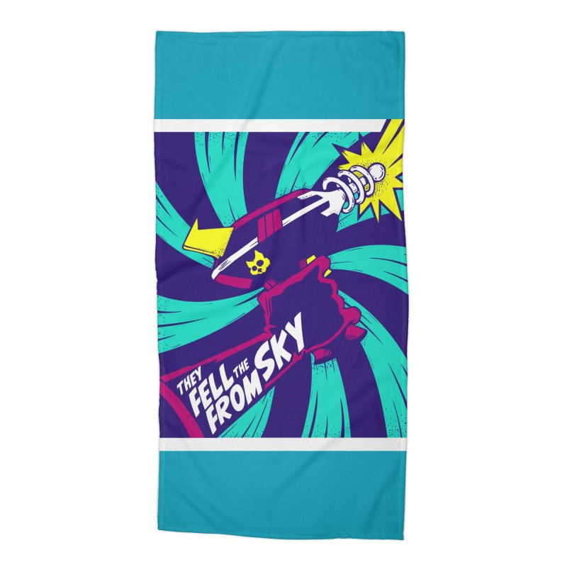 They Fell From The Sky Accessories Beach Towel by Mad Cave Studios's Artist Shop