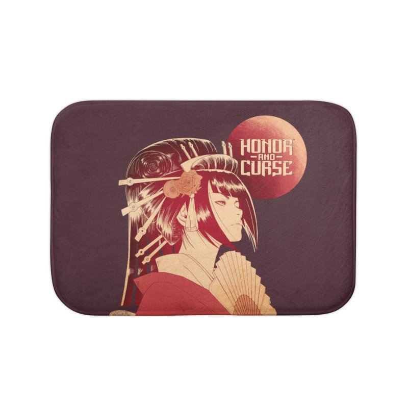 Lady Akemi - Iga Clan Home Bath Mat by Mad Cave Studios's Artist Shop