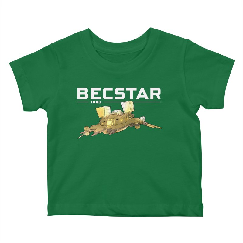 Becstar - Spaceship Kids Baby T-Shirt by Mad Cave Studios's Artist Shop