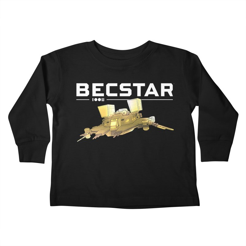 Becstar - Spaceship Kids Toddler Longsleeve T-Shirt by Mad Cave Studios's Artist Shop