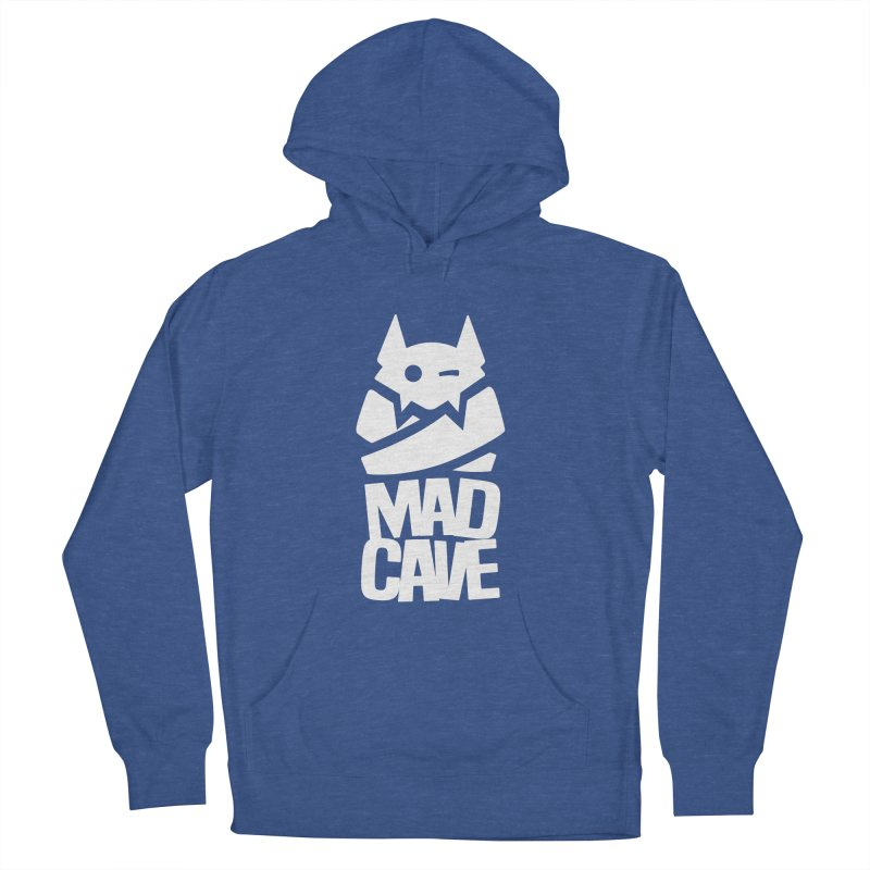 Mad Cave Logo White Men's French Terry Pullover Hoody by MadCaveStudios's Artist Shop