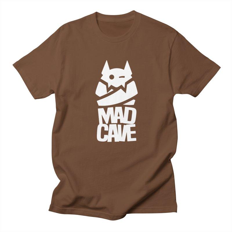 Mad Cave Logo White Men's Regular T-Shirt by MadCaveStudios's Artist Shop