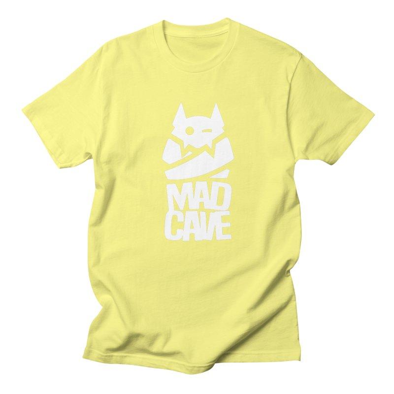 Mad Cave Logo White Women's Regular Unisex T-Shirt by MadCaveStudios's Artist Shop