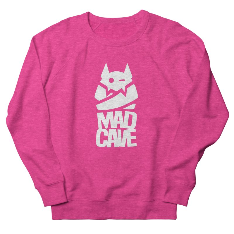 Mad Cave Logo White Women's French Terry Sweatshirt by MadCaveStudios's Artist Shop