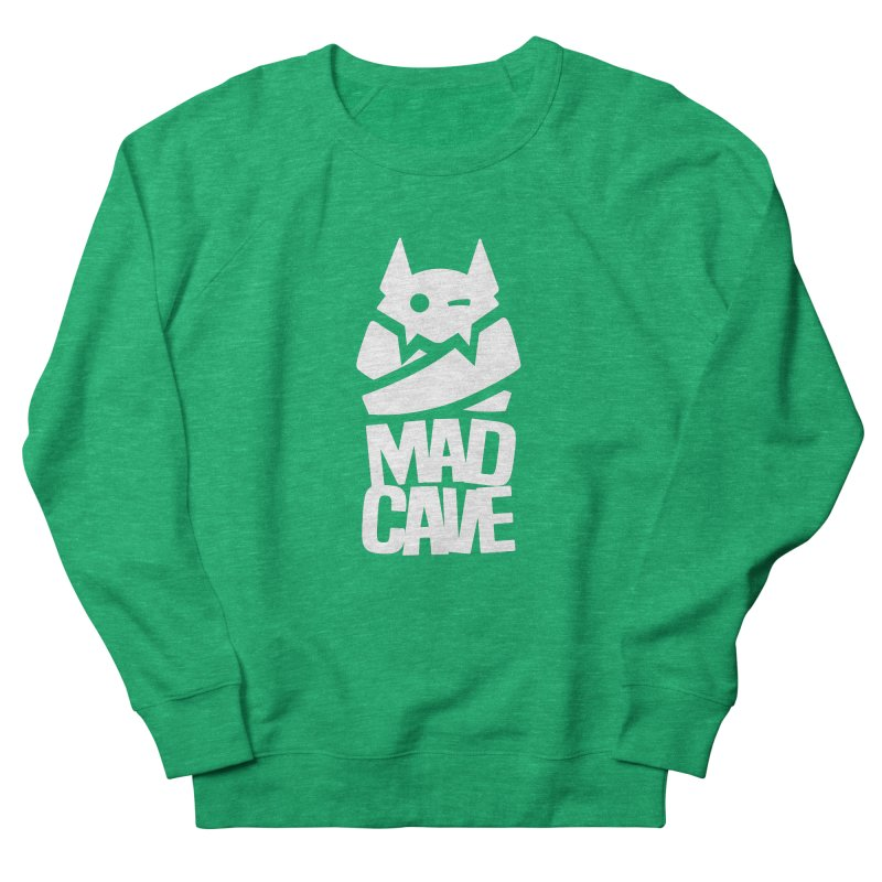 Mad Cave Logo White Men's French Terry Sweatshirt by MadCaveStudios's Artist Shop