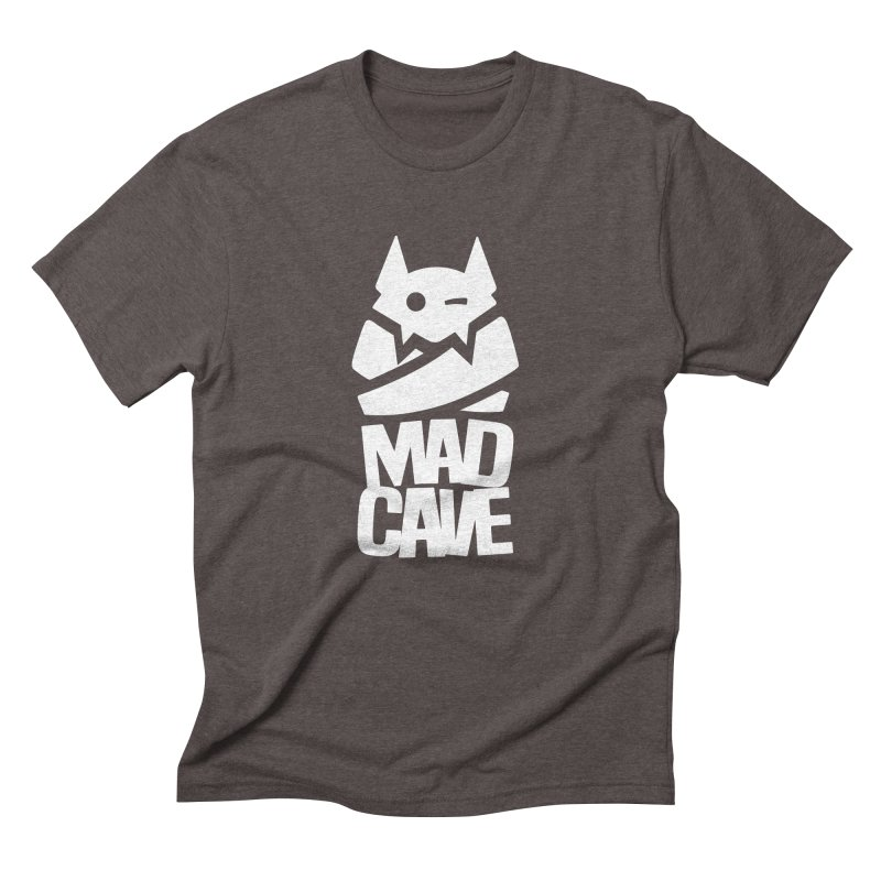 Mad Cave Logo White Men's Triblend T-Shirt by MadCaveStudios's Artist Shop