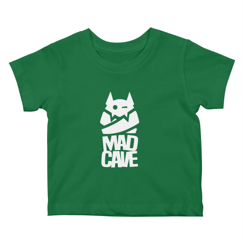 Mad Cave Logo White Kids Baby T-Shirt by MadCaveStudios's Artist Shop