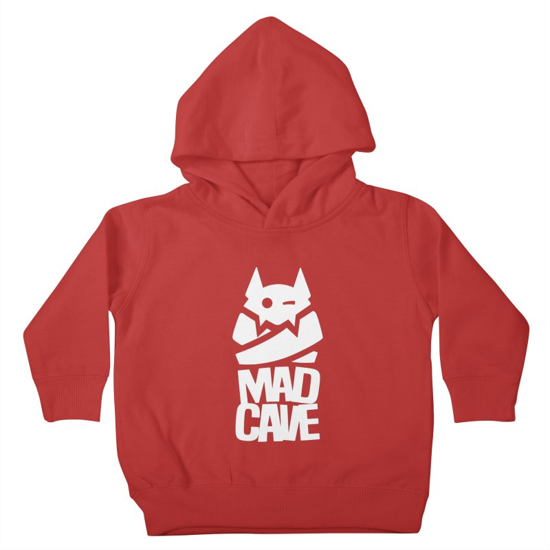 Mad Cave Logo White Kids Toddler Pullover Hoody by MadCaveStudios's Artist Shop