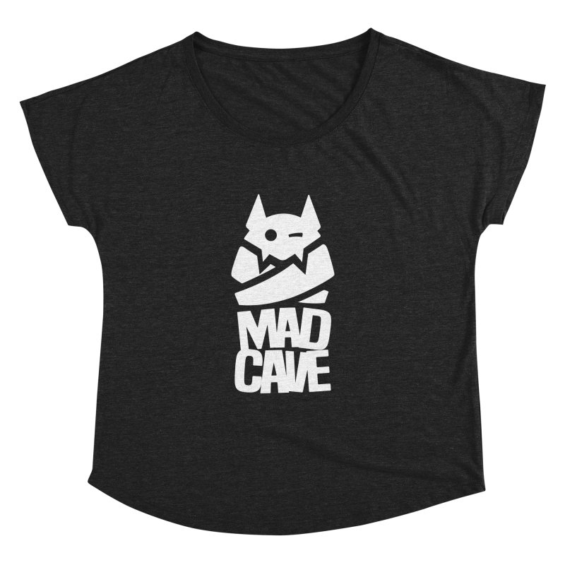 Mad Cave Logo White Women's Dolman Scoop Neck by MadCaveStudios's Artist Shop