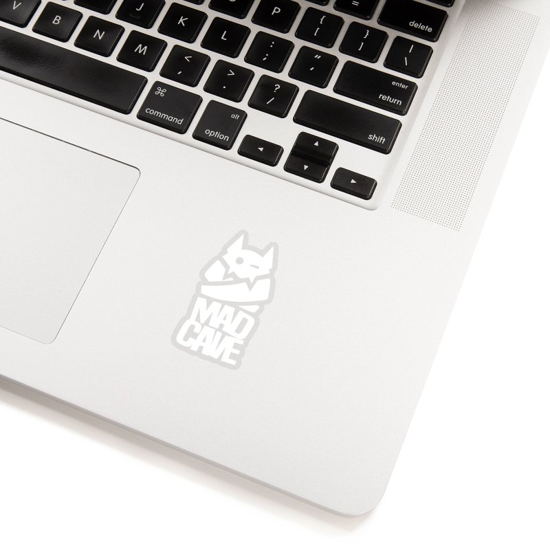 Mad Cave Logo White Accessories Sticker by MadCaveStudios's Artist Shop