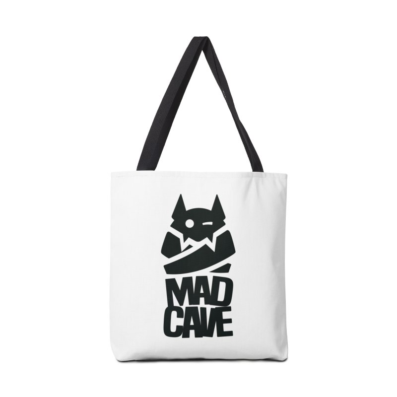Mad Cave Logo Black Accessories Bag by MadCaveStudios's Artist Shop