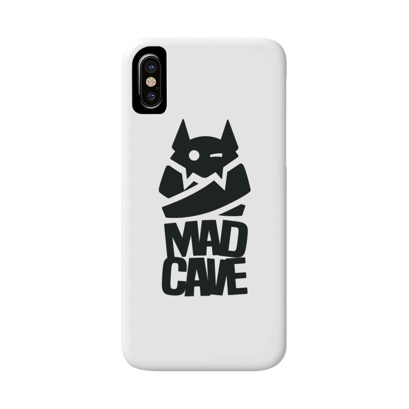 Mad Cave Logo Black Accessories Phone Case by MadCaveStudios's Artist Shop
