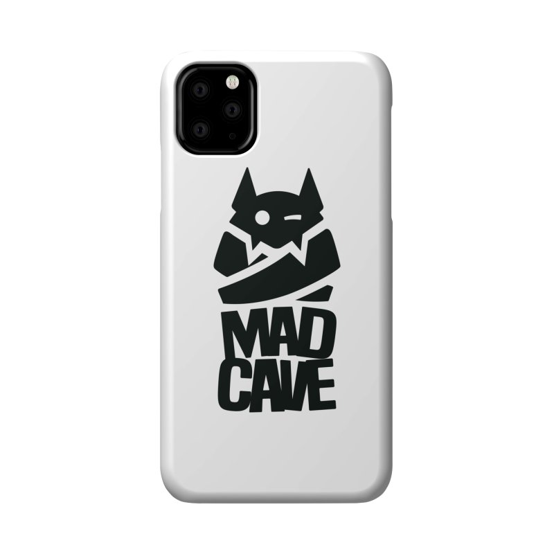 Mad Cave Logo Black Accessories Phone Case by Mad Cave Studios's Artist Shop